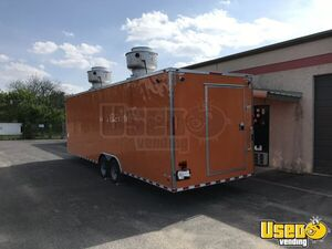 2021 Enclosed Cargo Food Concession Trailer Kitchen Food Trailer Air Conditioning Texas for Sale