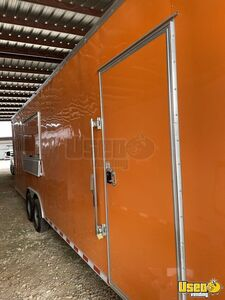 2021 Enclosed Cargo Food Concession Trailer Kitchen Food Trailer Concession Window Texas for Sale