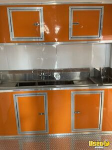 2021 Enclosed Cargo Food Concession Trailer Kitchen Food Trailer Exhaust Fan Texas for Sale