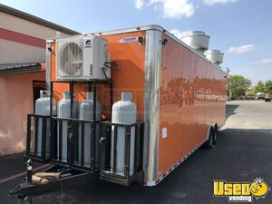 2021 Enclosed Cargo Food Concession Trailer Kitchen Food Trailer Insulated Walls Texas for Sale