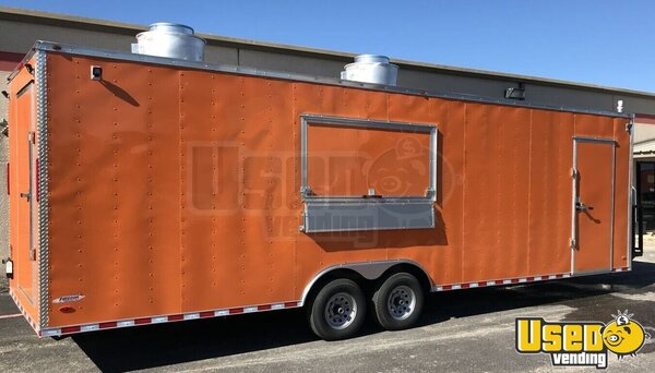 2021 Enclosed Cargo Food Concession Trailer Kitchen Food Trailer Texas for Sale