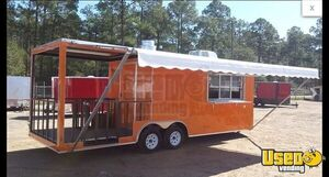 2019 - 8.5' x 24' Food Concession Trailer with Porch for Sale in Georgia!!!