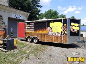 2012 - 8' x 24' Freedom Food Concession Trailer with Porch for Sale in Georgia!!