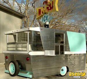 2016 - Custom Vintage Diner Style Food Concession Trailer for Sale in Illinois!
