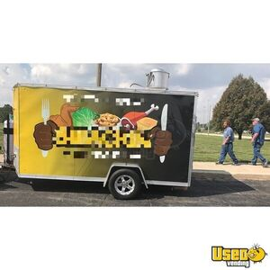 Used 2015 - 6' x 12' Cross 612SA Food Concession Trailer / Mobile Kitchen Unit for Sale in Illinois!
