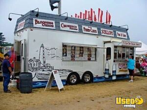 8.6' x 26' Food Concession Trailer Mobile Kitchen for Sale in Massachusetts!!!