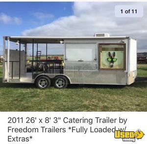 2011 - 8.3' x 26' Used Food Concession Trailer with Porch for Sale in Missouri!!
