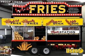 Turnkey 8' x 16' Food Concession Trailer with GMC Truck for Sale in New York!!!