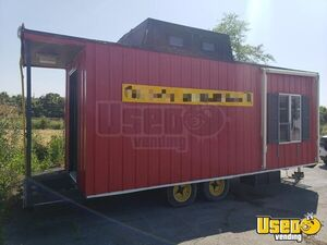 2010 Red Food Caboose All-Purpose Food Concession Trailer for Sale in Ohio!