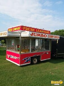 8' x 12' Used Shantz Food Concession Trailer with Truck for Sale in Oklahoma!!!