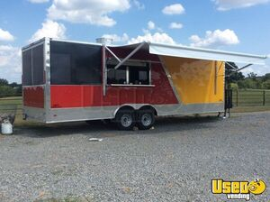 2019 -8.5' x 26' Freedom Food Concession Trailer with Porch for Sale in Texas!!!