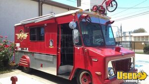 CLEAN GMC P30 Step Van Mobile Kitchen Food Truck with Pro Fire Suppression for Sale in California!