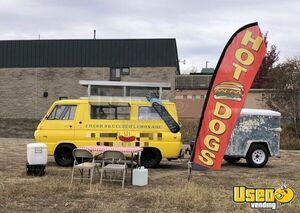 Vintage Dodge A100 Pop-Up Van Mobile Food Unit with Trailer / Food Truck for Sale in Colorado!