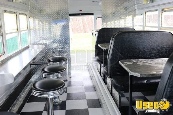 Blue Bird Mobile Diner Bus Food Truck for Sale in Minnesota!!!