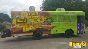 Eye-Catching Blue Bird 25' Kitchen Bustaurant / Used Food Truck Bus for Sale in Texas!