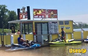 Fully-Operational 32' Floating Restaurant / Used Food Boat with Bathroom for Sale in Wisconsin!