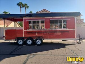 Never Used 2019 7' x 27' Barbecue Food Concession Trailer with Porch BBQ Rig for Sale in Arizona!