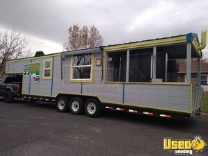 2008 - 8.5' x 32' Barbecue Concession Trailer with Porch / BBQ Rig for Sale in Colorado!!!