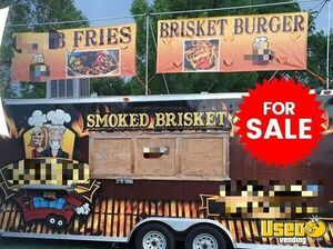 2012 - 8' x 25' Turnkey BBQ Concession Trailer with Porch for Sale in Colorado!!