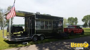 2012 - 8.6' x 24' BBQ Concession Trailer with Porch for Sale in Florida!!!