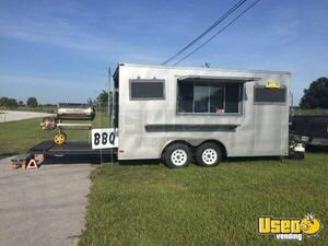 2015 Lark 18' Used Barbecue Pit / Barbeque Concession Trailer for Sale in Florida!