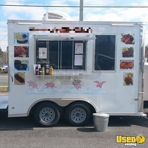2018 - 8.5' x 12' Rock Solid Cargo BBQ Concession Trailer / Mobile Kitchen for Sale in Florida!
