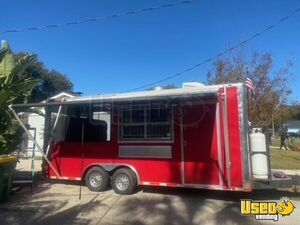 2016 - 8' x 16' Kitchen Barbecue Food Concession Trailer w/ Screened Porch for Sale in Florida!