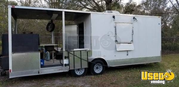 2014 - 8' x 24' Food Concession Trailer with Porch for Sale in Florida!