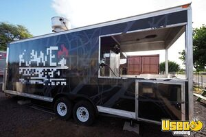 2018 9' x 30' Barbecue Food Trailer with a Full Kitchen and Porch for Sale in Hawaii!
