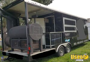 2015 - 8.6' x 24' Barbecue Concession Trailer / Fully Loaded Mobile Kitchen for Sale in Idaho!!