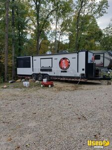 Gently Used 2019 SDG Barbecue Concession Trailer with a Porch and a Restroom for Sale in Illinois!