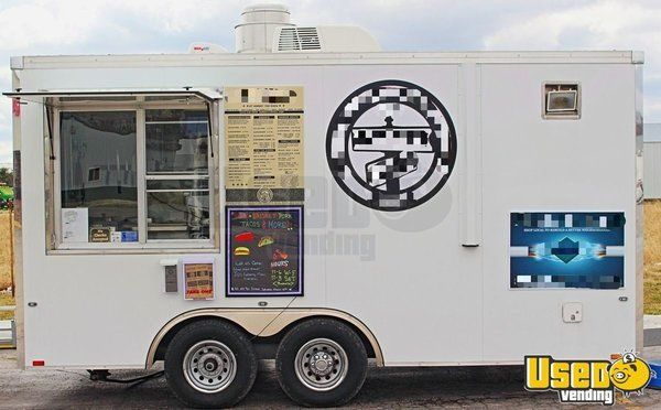 2017 8.6' x 16' BBQ Concession Trailer with Smoker Trailer for Sale in Illinois!