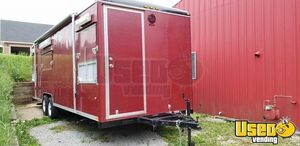 24' Wells Cargo Mobile Rotisserie Kitchen / Used Barbecue Concession Trailer for Sale in Indiana!
