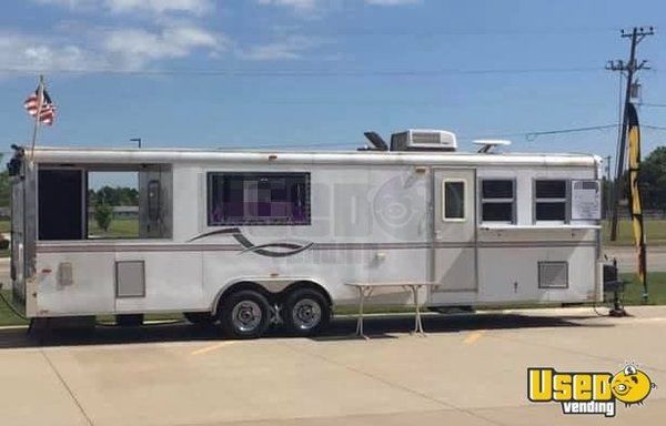 2003 Roadmaster Campmaster 28' Barbecue Food Trailer with Custom-Built Smoker for Sale in Kansas!