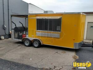 2018 Kenda Lone Star 7' x 23' Barbecue Food Trailer with Porch/Used BBQ Trailer for Sale in Kentucky