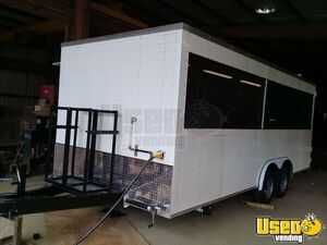 Used 2018 8.5' x 20' BBQ & SeaFood Concession Trailer w/ Smoker for Sale in Louisiana!