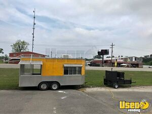 20' Barbecue Concession Trailer w/  Towable Commercial Open BBQ Smoker Trailer for Sale in Louisiana!