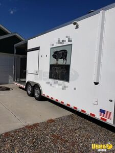 2015 Worldwide 8.6' x 26' Commercial BBQ Rig with Porch / Mobile Kitchen Trailer for Sale in Montana!