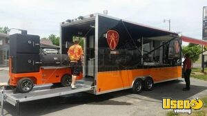 2016 8' x 30' Barbecue Concession Trailer / Full Mobile Kitchen for Sale in New York!!