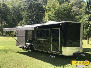2013 - 8' x 26' Custom-Built Colonial BBQ Concession Trailer with Porch for Sale in North Carolina!