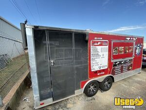 2015 Wow Cargo 8.5' x 20'  BBQ Concession Trailer w/ Porch w/ Dodge Cargo Van For Sale in Oklahoma!