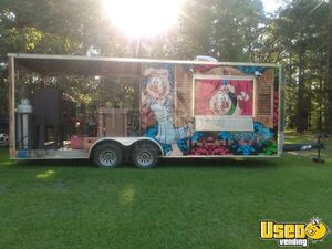 2018 - 8.5' x 22' Barbecue Concession Trailer with Porch / Mobile BBQ Unit for Sale in South Carolina!