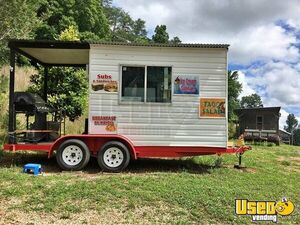 8' x 12' Barbecue Concession Trailer with Porch / Mobile BBQ Trailer for Sale in Tennessee!