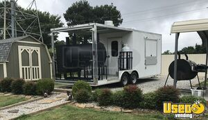 2018 8.6' x 22' Mobile Kitchen Barbecue Concession Trailer with a 10' Porch for Sale in Tennessee!