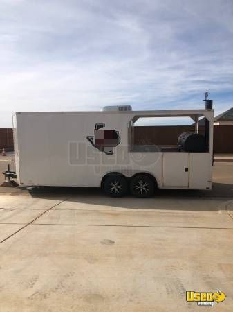 2018 - 8.5' x 22' Lark BBQ Concession Trailer with Porch for Sale in Texas!!!