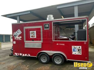 Head Turning 2017 - 8' x 16' BBQ Concession Trailer with Porch / Used BBQ Pit for Sale in Texas!