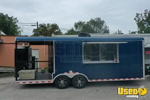 Lightly Used 2021 Cargo Craft 8' x 24' Barbecue Concession Trailer with Porch for Sale in Texas!