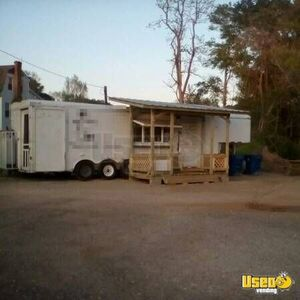 8' x 30' BBQ Concession Trailer with Porch for Sale in Texas!!!