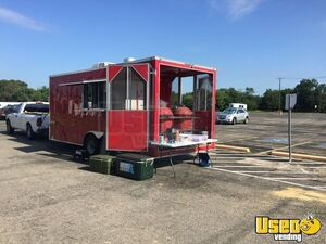 Used 2018 - 8.5' x 20' Lark United Barbeque Concession Trailer/BBQ Rig with Porch for Sale in Texas!