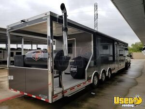 2018 - 8.5' x 42'  Competition BBQ Rig Trailer w/ Porch + Living Quarters Rig for Sale in Texas!!!